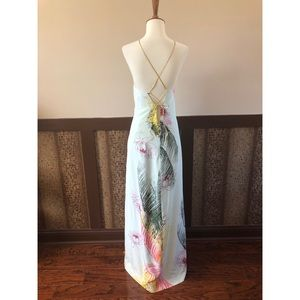 Nicole Miller Vintage Silk Gown and Scarf
